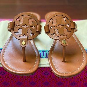 Tory Burch Miller Vachetta Leather Sandals